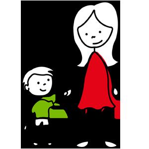Mom and Son Graphic - Peak Kids